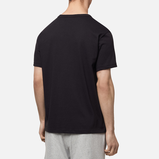 Мужская футболка Champion Reverse Weave Logo Chest & Sleeve Crew Neck Black