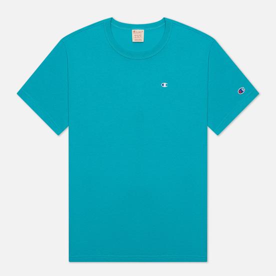 Мужская футболка Champion Reverse Weave Logo Chest & Sleeve Crew Neck Bright Green
