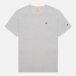 Мужская футболка Champion Reverse Weave Logo Chest & Sleeve Crew Neck Light Grey