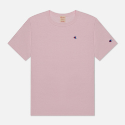 Мужская футболка Champion Reverse Weave Logo Chest & Sleeve Crew Neck Pink