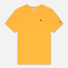 Мужская футболка Champion Reverse Weave Logo Chest & Sleeve Crew Neck Zinc Yellow фото- 0