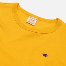Мужская футболка Champion Reverse Weave Logo Chest & Sleeve Crew Neck Zinc Yellow фото- 1