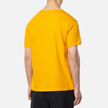 Мужская футболка Champion Reverse Weave Logo Chest & Sleeve Crew Neck Zinc Yellow фото- 3