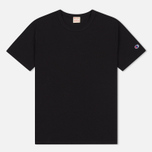 Мужская футболка Champion Reverse Weave Logo Left Sleeve Black фото- 0