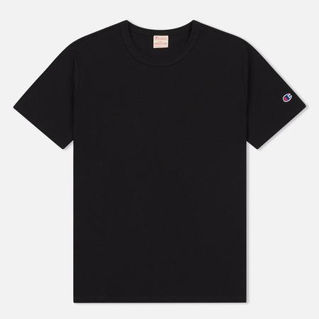 Мужская футболка Champion Reverse Weave Logo Left Sleeve Black