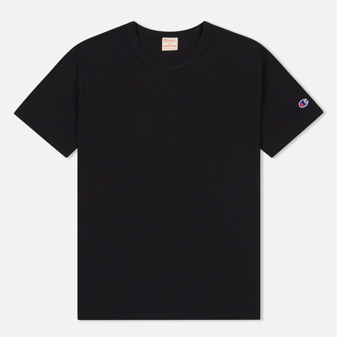 Мужская футболка Champion Reverse Weave Logo Left Sleeve Black