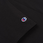 Мужская футболка Champion Reverse Weave Logo Left Sleeve Black фото- 2