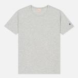 Мужская футболка Champion Reverse Weave Logo Left Sleeve Grey фото- 0