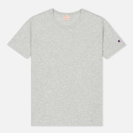 Мужская футболка Champion Reverse Weave Logo Left Sleeve Grey