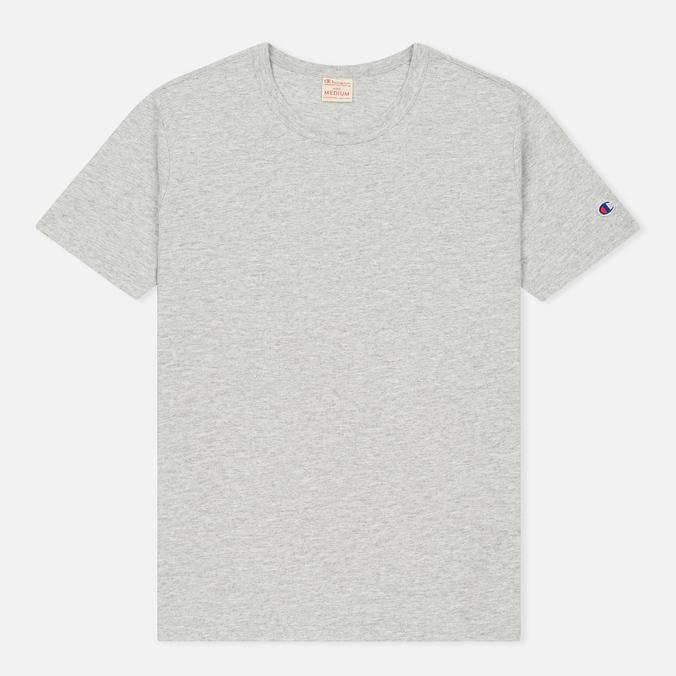 Мужская футболка Champion Reverse Weave Logo Left Sleeve Grey