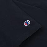 Мужская футболка Champion Reverse Weave Logo Left Sleeve Navy фото- 2