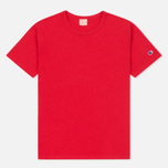 Мужская футболка Champion Reverse Weave Logo Left Sleeve Red фото- 0