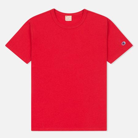 Мужская футболка Champion Reverse Weave Logo Left Sleeve Red