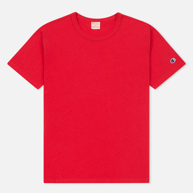 Мужская футболка Champion Reverse Weave Logo Left Sleeve Red