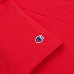 Мужская футболка Champion Reverse Weave Logo Left Sleeve Red фото- 2