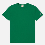 Мужская футболка Champion Reverse Weave Logo Left Sleeve Verdent Green фото- 0