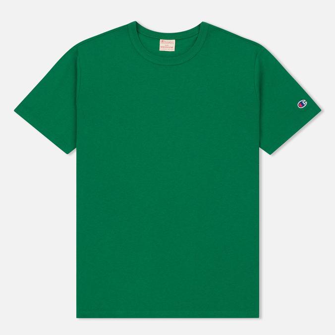 Мужская футболка Champion Reverse Weave Logo Left Sleeve Verdent Green