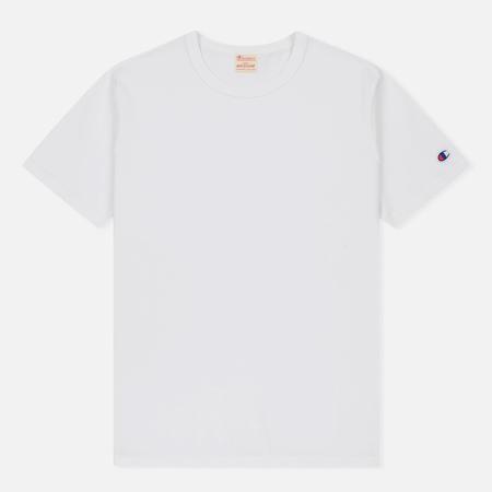 Мужская футболка Champion Reverse Weave Logo Left Sleeve White