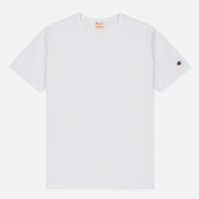 Мужская футболка Champion Reverse Weave Logo Left Sleeve White