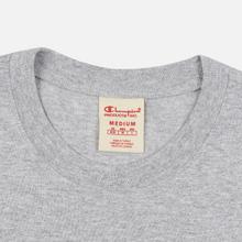 Мужская футболка Champion Reverse Weave Archive Centenary Print Crew Neck Light Grey фото- 1