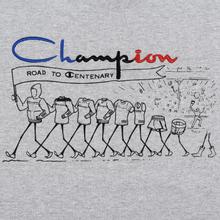 Мужская футболка Champion Reverse Weave Archive Centenary Print Crew Neck Light Grey фото- 2