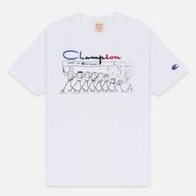 Мужская футболка Champion Reverse Weave Archive Centenary Print Crew Neck White фото- 0