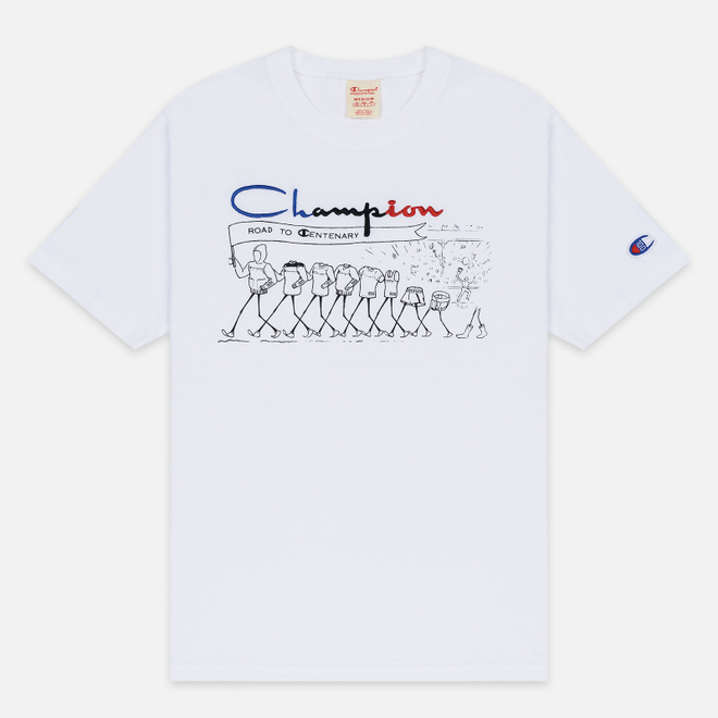 Мужская футболка Champion Reverse Weave Archive Centenary Print Crew Neck White
