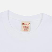 Мужская футболка Champion Reverse Weave Archive Centenary Print Crew Neck White фото- 1