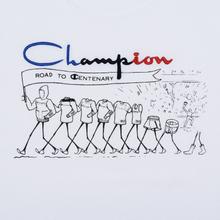 Мужская футболка Champion Reverse Weave Archive Centenary Print Crew Neck White фото- 2