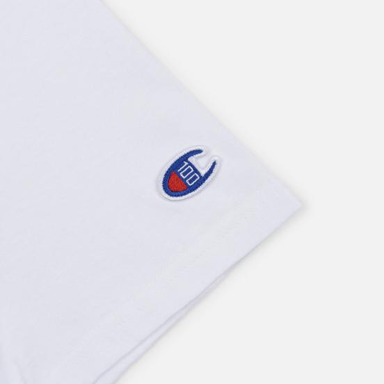 Мужская футболка Champion Reverse Weave Archive Centenary Print Crew Neck White