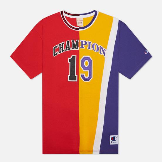 Мужская футболка Champion Reverse Weave Nbmix Crew Neck Red/Yellow/Purple