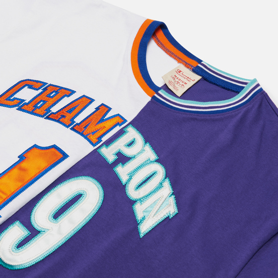 Мужская футболка Champion Reverse Weave Nbmix Crew Neck White/Purple
