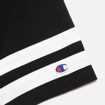 Мужская футболка Champion Reverse Weave NY Baseball №1 Black/Light Grey фото- 4