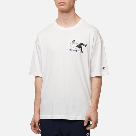 Мужская футболка Champion Reverse Weave Reclining Character Brilliant White