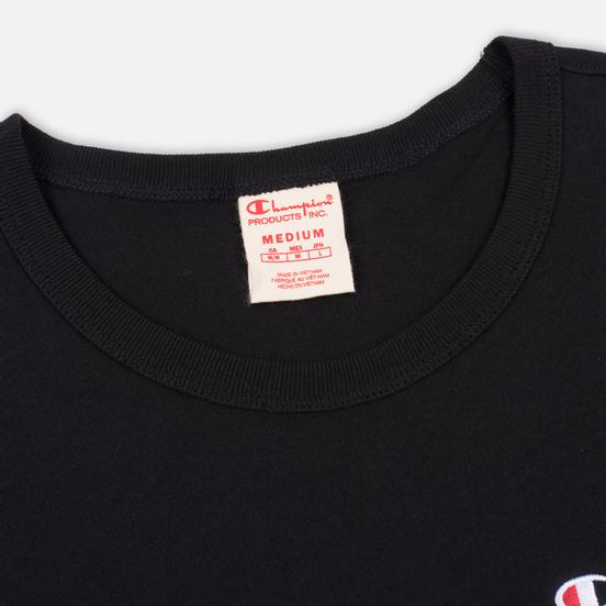 Мужская футболка Champion Reverse Weave Small Script Logo Black