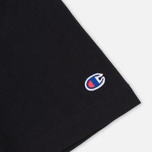Мужская футболка Champion Reverse Weave Small Script Logo Black фото- 3