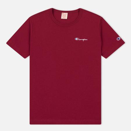 Мужская футболка Champion Reverse Weave Small Script Logo Burgundy