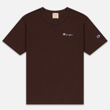 Мужская футболка Champion Reverse Weave Small Script Logo Brown фото- 0