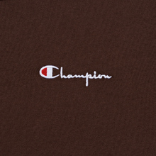 Мужская футболка Champion Reverse Weave Small Script Logo Brown фото- 2
