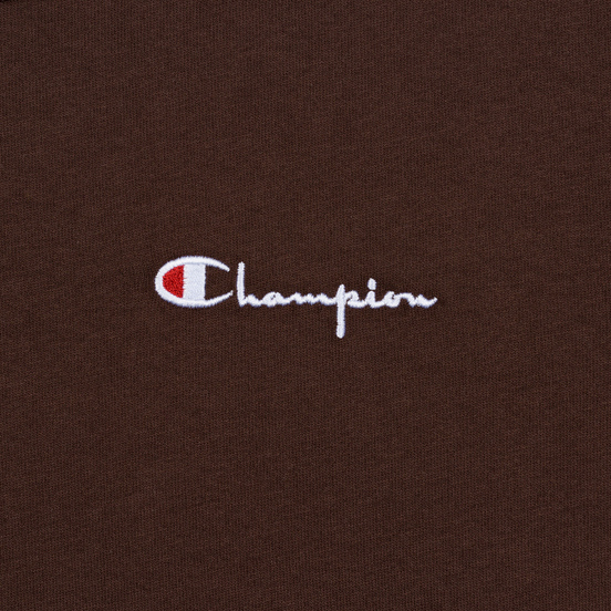 Мужская футболка Champion Reverse Weave Small Script Logo Brown