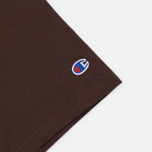 Мужская футболка Champion Reverse Weave Small Script Logo Brown фото- 3