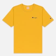 Мужская футболка Champion Reverse Weave Small Script Logo Golden Rod фото- 0
