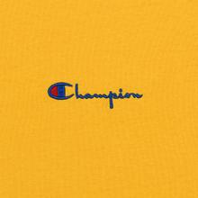 Мужская футболка Champion Reverse Weave Small Script Logo Golden Rod фото- 2