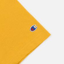 Мужская футболка Champion Reverse Weave Small Script Logo Golden Rod фото- 3
