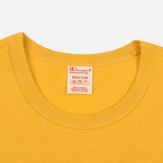 Мужская футболка Champion Reverse Weave Small Script Logo Golden Rod