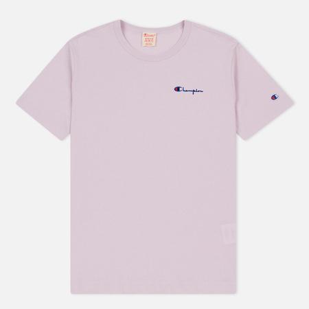 Мужская футболка Champion Reverse Weave Small Script Logo Lavender