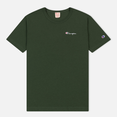 Мужская футболка Champion Reverse Weave Small Script Logo Military Green