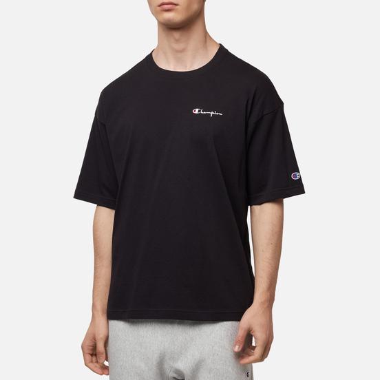 Мужская футболка Champion Reverse Weave Small Script Logo Muscle Fit Black