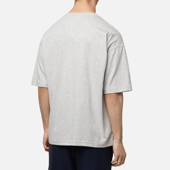 Мужская футболка Champion Reverse Weave Small Script Logo Muscle Fit Light Grey