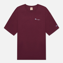 Мужская футболка Champion Reverse Weave Small Script Logo Muscle Fit Maroon